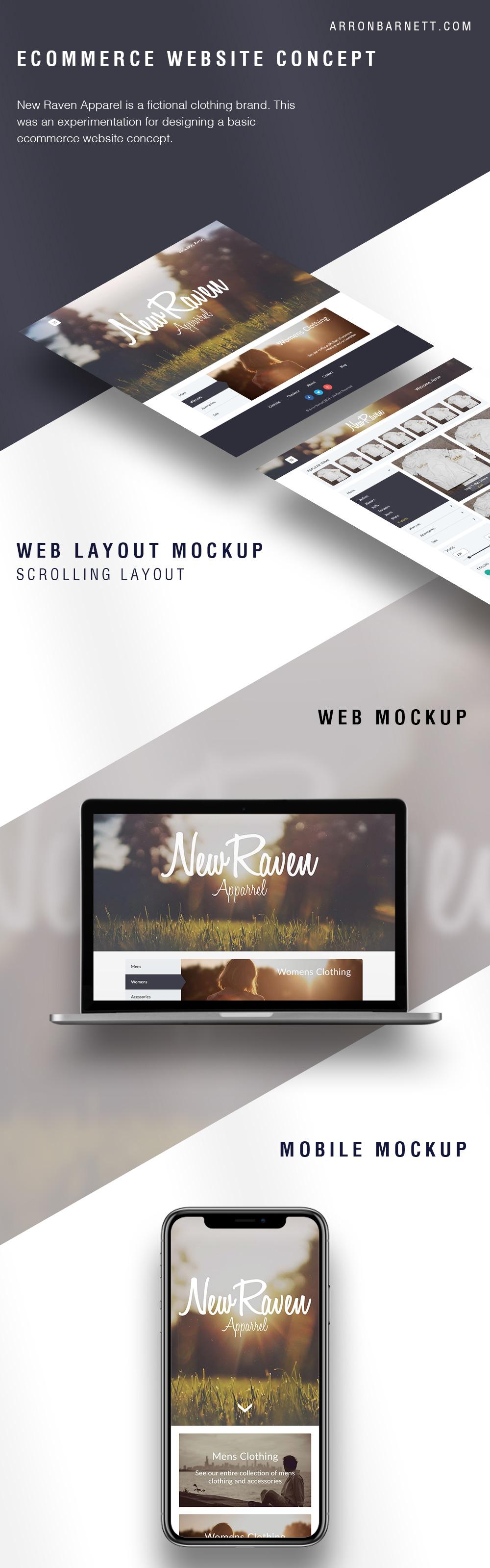 Ecommerce Website Concept