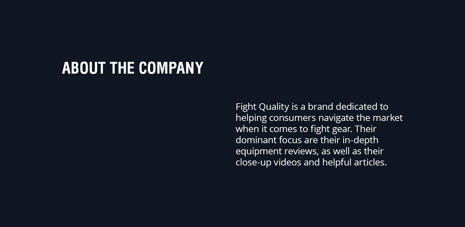 Fight Quality Logo and Branding