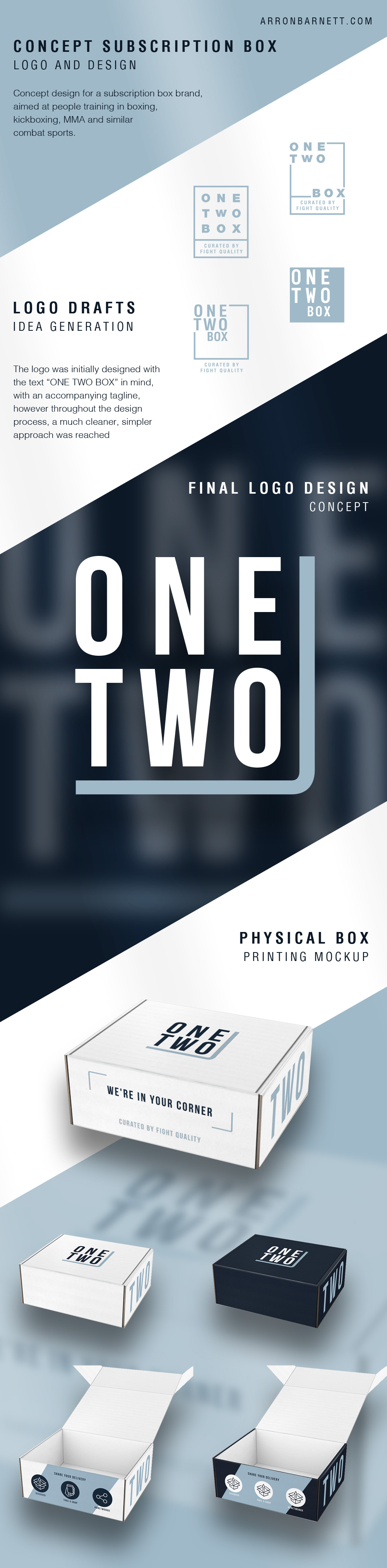 OneTwo Subscription Box logo and design