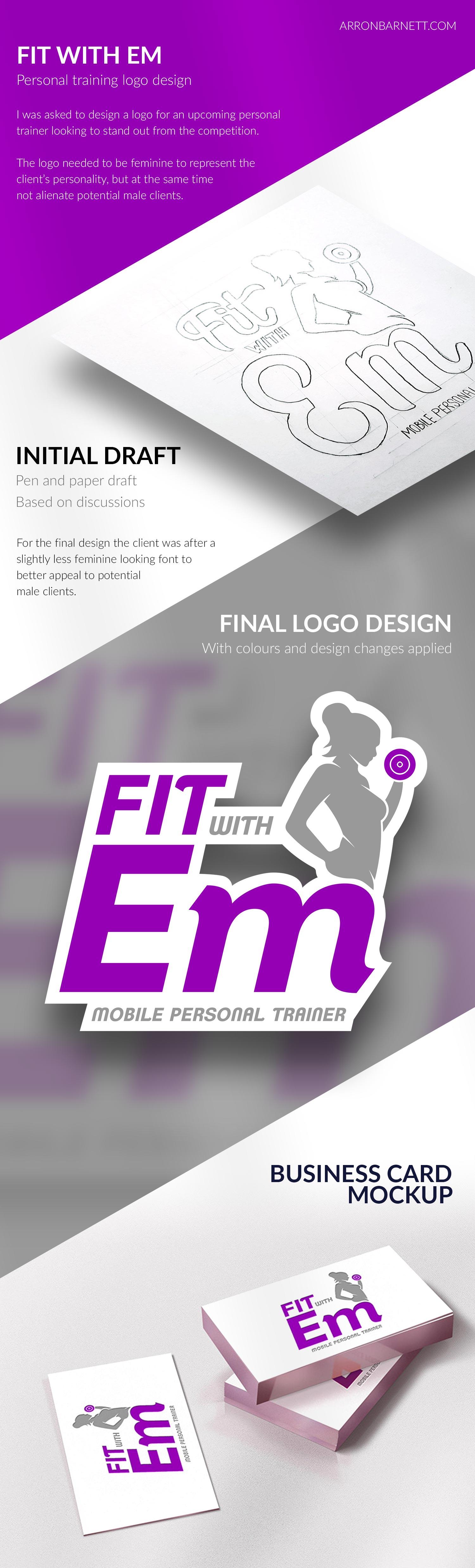 Fit With Em Logo Design