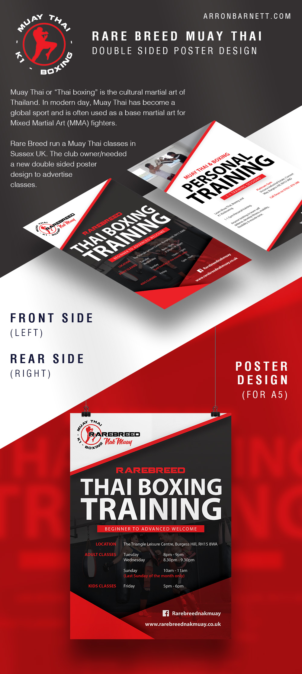 Rare Breed Thai Boxing Personal Training Poster