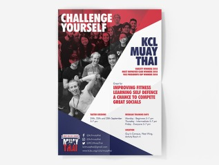 KCL Muay Thai Poster and BannerDesign