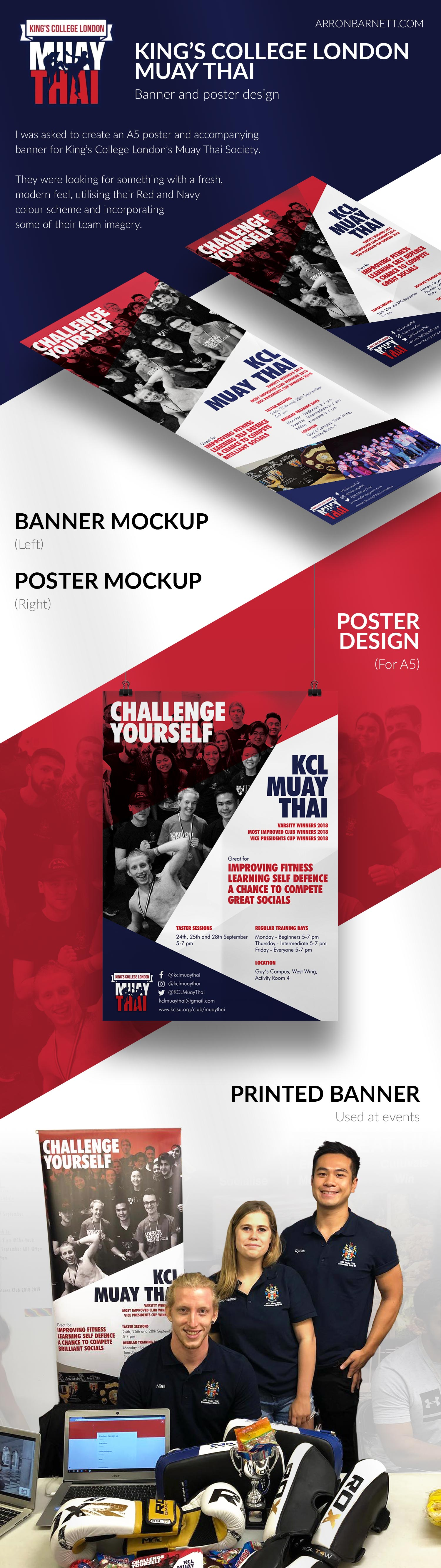 KCL Muay Thai Poster and Banner Design