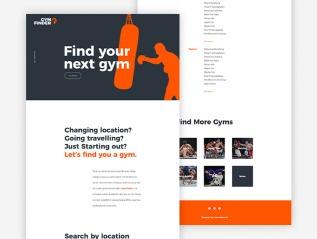 Gym Finder Concept Branding and WebDesign